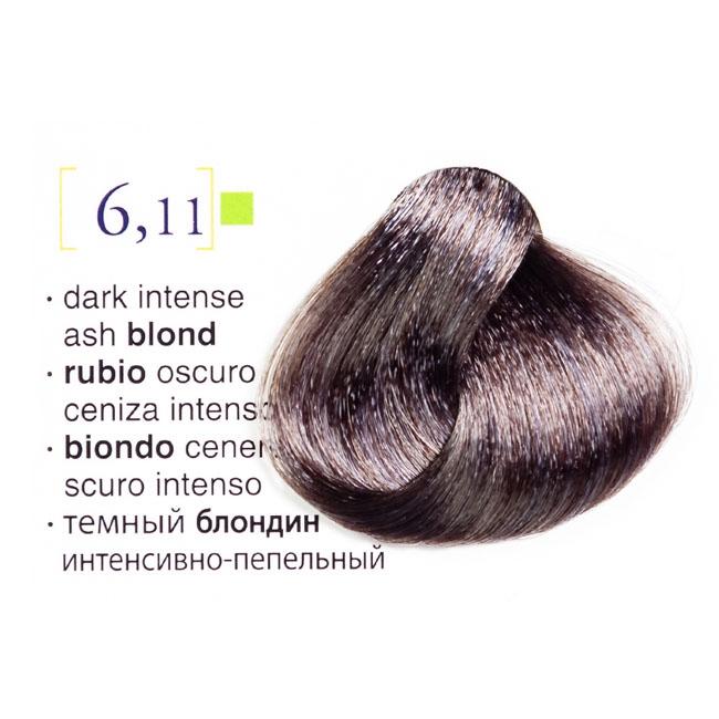 Vopsea De Par Permanenta Profesionala 611 Blond Inchis Cenusiu