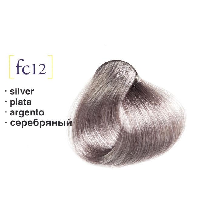 Vopsea De Par Permanenta Profesionala Salermvison Fc12 Argintiu 75ml