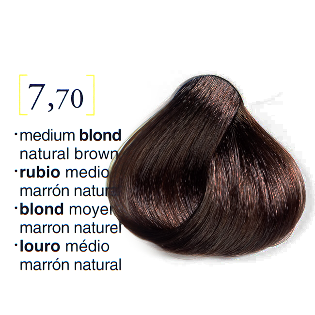 Vopsea De Par Permanenta Profesionala 770 Blond Mediu Maro Natural